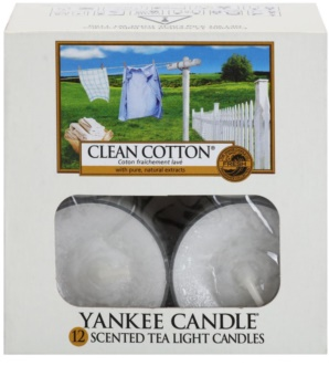 Yankee Candle Clean Cotton świeczka typu tealight 12 x 9,8 g