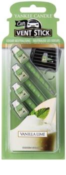 Yankee Candle Vanilla Lime Car Air Freshener 4 pc