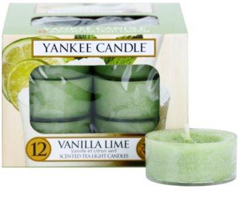 Yankee Candle Vanilla Lime čajová svíčka 12 x 9,8 g