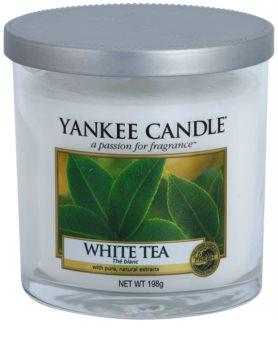 Yankee Candle White Tea vela perfumado 198 g Décor pequena