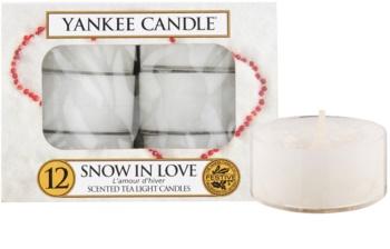 Yankee Candle Snow in Love čajová sviečka 12 x 9,8 g
