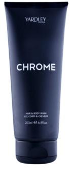 Yardley Chrome gel de dus pentru barbati 200 ml