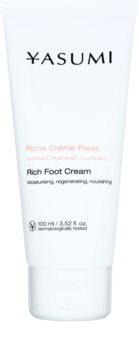 Yasumi Body Care creme de pés para pele seca e com rachaduras com efeito nutritivo