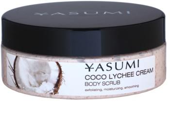 Yasumi Body Care Coco Lychee Cream zjemňující tělový peeling