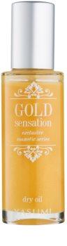 Yasumi Gold Sensation óleo seco com partículas de ouro para rosto, corpo e cabelo