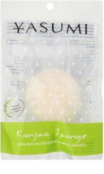 Yasumi Konjak Pearl esponja macia de limpeza para todos os tipos de pele inclusive sensível