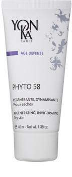 Yon-Ka Age Defense Phyto 58 regenerujący krem na noc o działaniu pobudzającym do skóry suchej