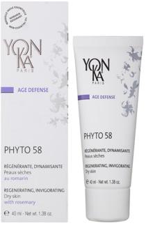 Yon-Ka Age Defense Phyto 58 regenerierende Nachtcreme mit belebender Wirkung für trockene Haut