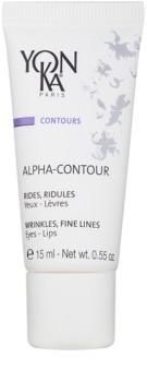 Yon-Ka Contours Alpha gel reparador antiarrugas  para contorno de ojos y labios