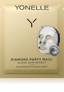Yonelle Diamond Party Mask maska iz platna z vlažilnim in revitalizacijskim učinkom