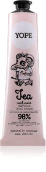 Yope Tea & Mint creme de mãos natural nutrição e hidratação