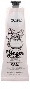 Yope Ginger & Sandalwood натуральний крем для рук для живлення та зволоження