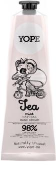 Yope Tea & Mint naravna krema za roke za prehrano in hidracijo