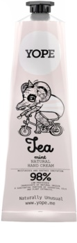 Yope Tea & Mint přírodní krém na ruce pro výživu a hydrataci