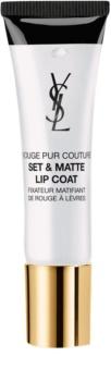 Yves Saint Laurent Rouge Pur Couture Set & Matte Lip Coat Lipstick fixation with Matte Effect