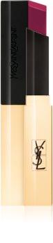 Yves Saint Laurent Rouge Pur Couture The Slim batom com acabamento couro mate