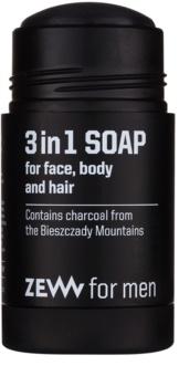 Zew For Men přírodní tuhé mýdlo na obličej, tělo a vlasy 3 v 1