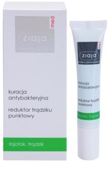 Ziaja Med Antibacterial Care lokální péče proti akné na obličej, dekolt a záda