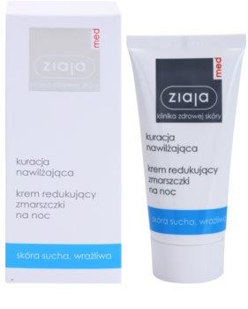 Ziaja Med Hydrating Care Nachtcreme gegen Falten für empfindliche und trockene Haut