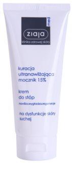 Ziaja Med Ultra-Moisturizing with Urea crema regeneratoare pentru  picioare, cu efect de hidratare pe pielea fierbinte