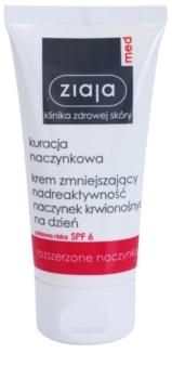 Ziaja Med Capillary Care lehký hydratační krém pro citlivou pleť se sklonem ke zčervenání SPF 6