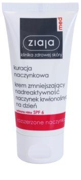 Ziaja Med Capillary Care lekki krem nawilżający do skóry wrażliwej ze skłonnością do zaczerwienień SPF 6