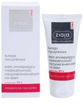 Ziaja Med Capillary Care leichte feuchtigkeitsspendende Creme für empfindliche Haut mit Neigung zu Rötungen SPF 6