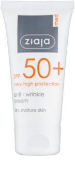 Ziaja Med Protecting UVA + UVB Anti - Wrinkle Sun Cream SPF 50+