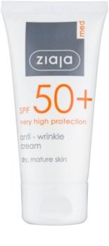 Ziaja Med Protecting UVA + UVB crema abbronzante antirughe SPF 50+