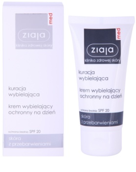 Ziaja Med Whitening Care védőkrém a pigmentfoltok ellen SPF 20