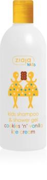 Ziaja Kids Cookies 'n' Vanilla Ice Cream Sampon és lemosó 2 az 1-ben gyermekeknek