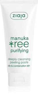 Ziaja Manuka Tree Purifying oczyszczająca pasta peelingująca do skóry normalnej i mieszanej