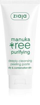 Ziaja Manuka Tree Purifying tisztító peelinges paszta normál és zsíros bőrre