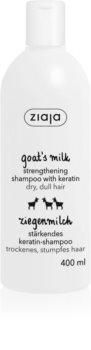 Ziaja Goat's Milk champô reforçador para cabelo seco a danificado