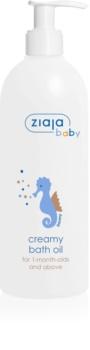 Ziaja Baby huile de bain crème hypoallergénique enfant 1 mois+