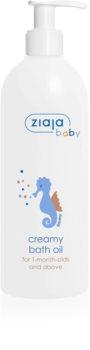 Ziaja Baby kremasto hipoalergensko olje za kopel za otroke od 1. meseca