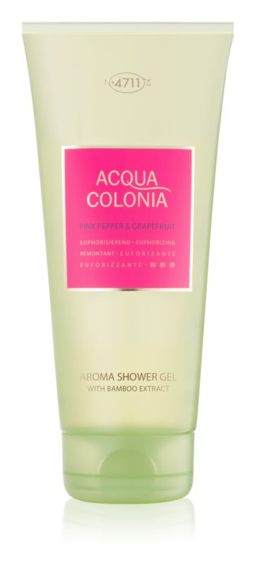4711 Acqua Colonia Pink Pepper & Grapefruit sprchový gél unisex 200 ml