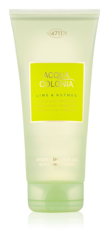 4711 Acqua Colonia Lime & Nutmeg gel de dus unisex 200 ml