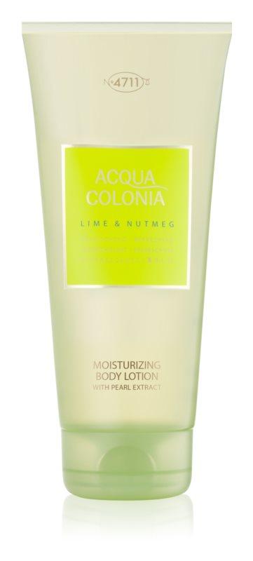 4711 Acqua Colonia Lime & Nutmeg testápoló tej unisex 200 ml