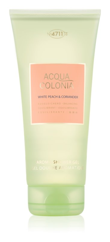 4711 Acqua Colonia White Peach & Coriander tusfürdő unisex 200 ml