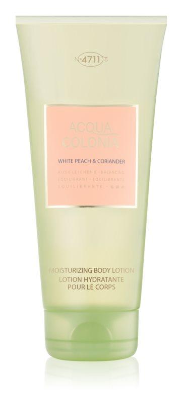 4711 Acqua Colonia White Peach & Coriander mleczko do ciała unisex 200 ml
