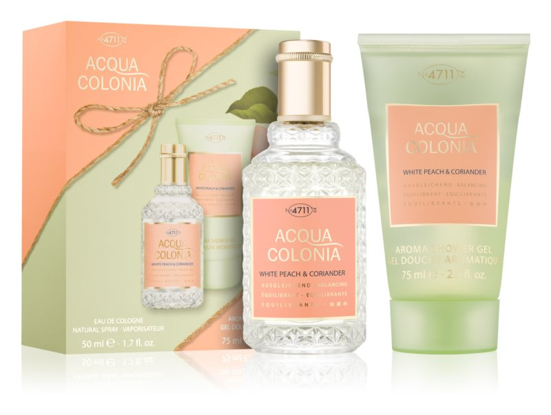 4711 Acqua Colonia White Peach & Coriander σετ δώρου II.