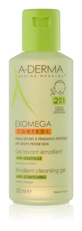 A-Derma Exomega gel detergente emolliente per bambini