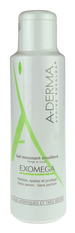 A-Derma Exomega Emollient Foaming Gel For Very Dry Sensitive And Atopic Skin