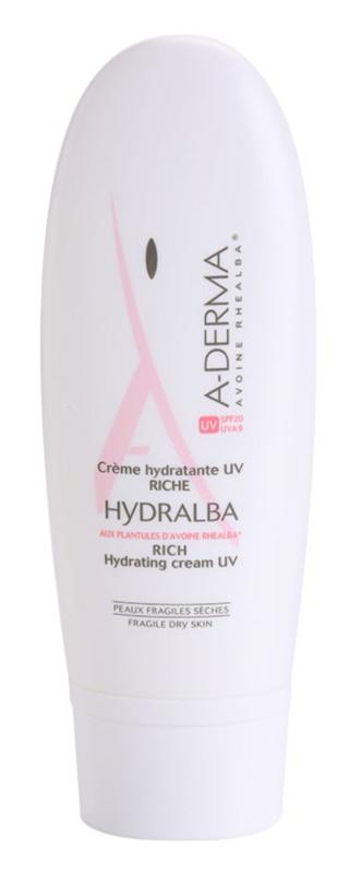 A-Derma Hydralba crema idratante per pelli secche SPF 20