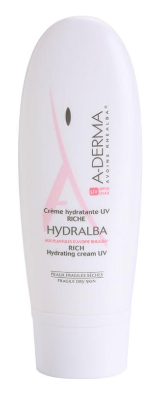 A-Derma Hydralba crème hydratante pour peaux sèches SPF 20