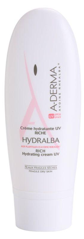 A-Derma Hydralba hidratantna krema za suhu kožu lica SPF 20