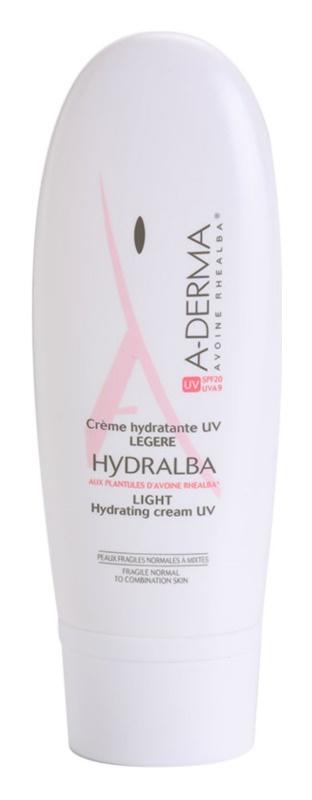 A-Derma Hydralba ενυδατική κρέμα για κανονική εως μικτή επιδερμίδα SPF 20