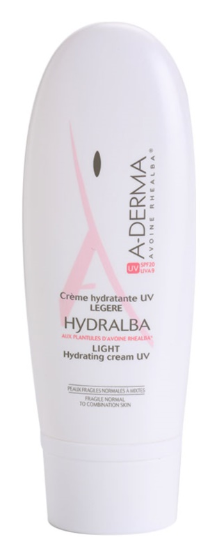 A-Derma Hydralba Hydraterende Crème voor Normale tot Gemengde Huid SPF 20