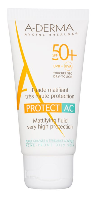 A-Derma Protect AC zmatňujúci pleťový fluid SPF 50+